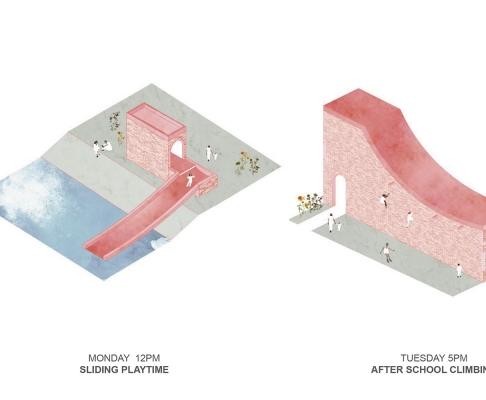 阿姆斯特丹儿童乐园建筑竞赛方案(设计:barriol pelizzaro等)