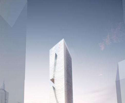 深圳国信证券塔超高层竞赛设计(设计:Studio Fuksas)