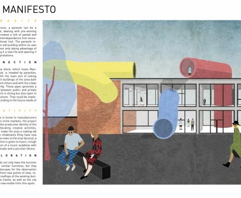 """""""音乐望远镜""""MANGO VINYL HUB建筑竞赛一等奖(设计:Lucia等)"""