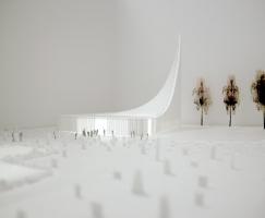 天空影像-挪威瓦勒教堂竞赛建筑方案(设计
