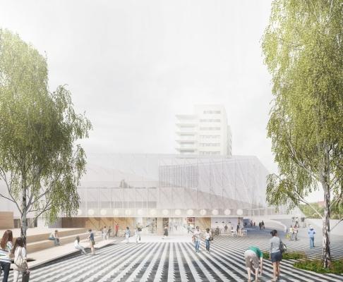 巴塞罗那希布伦市场重建竞赛方案(设计:baas)