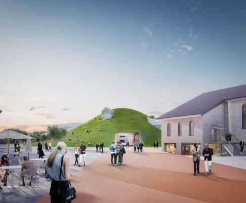 曼海姆富兰克林的中心竞赛方案(设计:mvrdv)