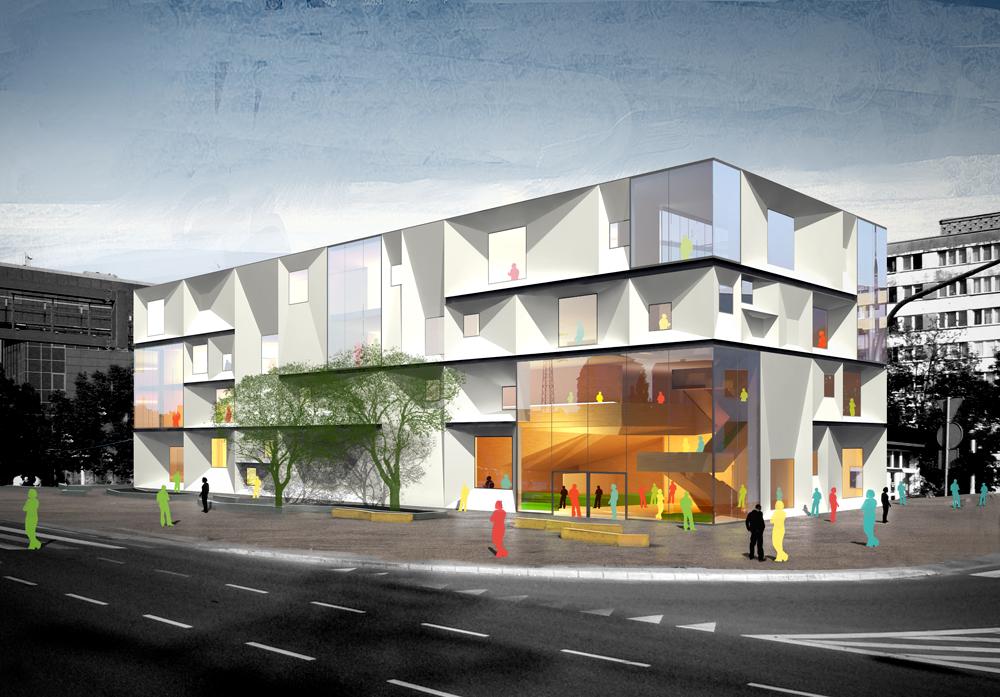 华沙 RZYMOWSKIEGO文化中心建筑竞赛方案(
