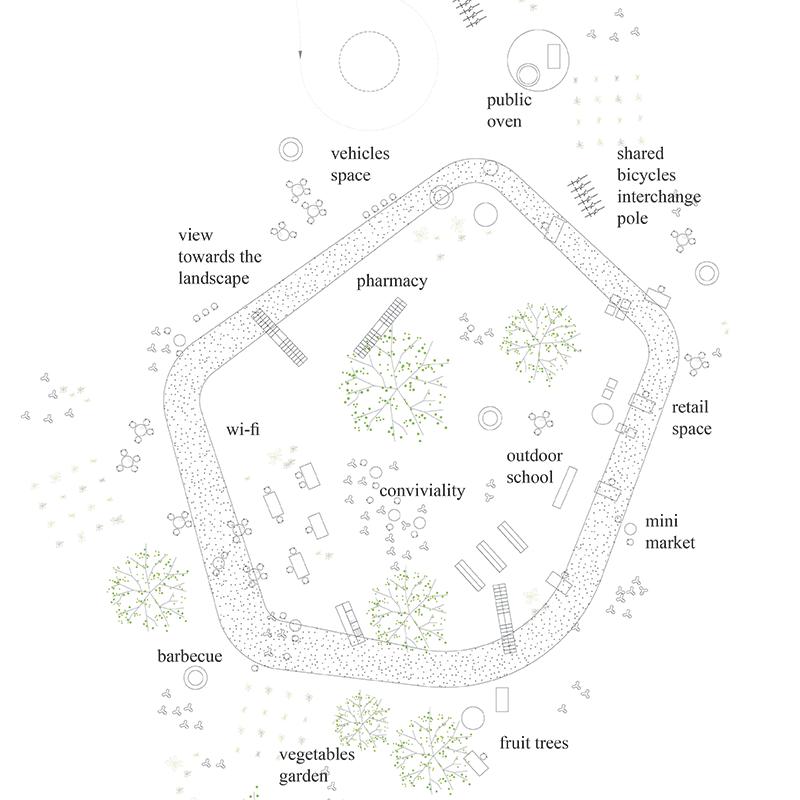 生活在篱笆-卢旺达社区中心建筑竞赛方案(