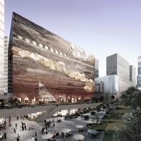 韩国广校市韩华美术馆竞赛方案(设计:OMA)