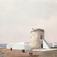 """""""沙子和盐的拥抱""""阿尔梅里亚建筑竞赛方案(设计:afab)"""