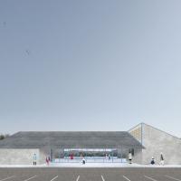 阿尔维尼亚克多功能厅建筑竞赛方案(设计:bast)