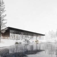 挪威svullrya市skogfinsk博物馆竞赛方案(设计:OSO)