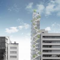 东京银座建筑竞赛方案(设计:藤本壮介)