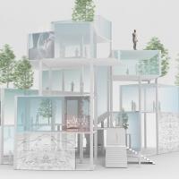 """伦敦""""生活方式套件""""住房建筑竞赛(设计:shiro studio)"""