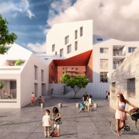 波尔多Ilot Queyries河畔住宅综合体竞赛方案(设计:mvrdv)
