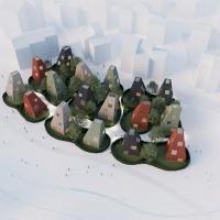 哥特堡垂直村落建筑竞赛方案(设计:tham & videgard)