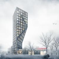 阿姆斯特丹黑天鹅建筑竞赛方案(设计:studio ninedots)