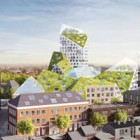 艾恩德霍芬城市综合体更新竞赛方案(设计:MVRDV)