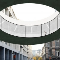 联邦众议院过街天桥竞赛获奖方案(设计:office)