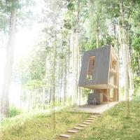 群马森林住宅概念方案(设计:Kubo Tsushima Architects)