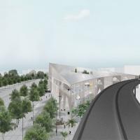 巴黎-萨克雷学习中心竞赛方案(设计:np2f architectes)