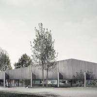 瑞士Wehntal体育厅建筑竞赛方案(设计:e2a)