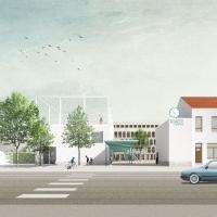 布鲁塞尔学校建筑竞赛方案(设计:bogdan & van broeck)
