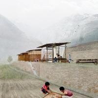 尼泊尔Gorkhaz灾后应急学校(设计:Benjamin Nicaud )